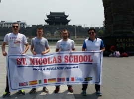 ST. NICOLAS SCHOOL IN CHINA ON THE WORLD CHAMPIONSHIP IN THE STONE TENNIS FROM 26.04. TO 03.05.2015.
