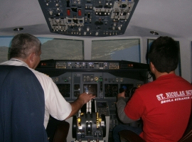 SCHOOL STUDENTS ST.NICOLAS TO BE MANAGED BY BOING 737-800